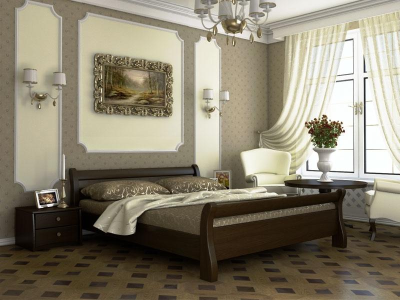 Дерев'яне ліжко Діана