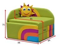 Дитячий диван Сонечко