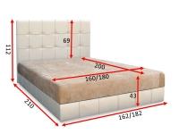 Кровать Магнолия  с матрасом 160 / 180