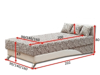 Ліжко Сафарі 140/160