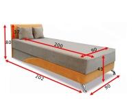 Кровать Сафари с матрасом 90