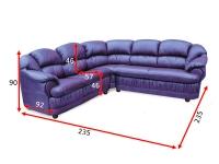 Кутовий диван Барон 22