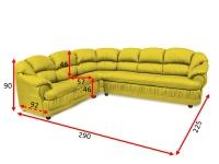 Кутовий диван Барон 32