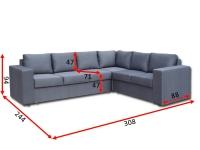 Кутовий диван Чикаго 32 В